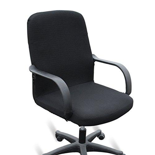 Btsky widerstandsfähiger, elastischer Sitzbezug für Bürostühle (Stuhl nicht im Lieferumfang enthalten), schwarz, M