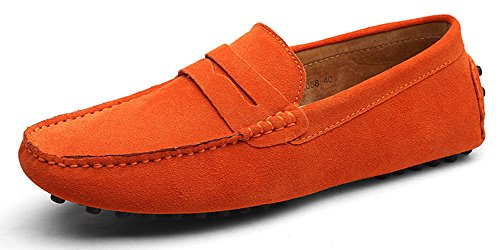 Eagsouni Herren Mokassin Bootsschuhe Wildleder Loafers Schuhe Flache Fahren Halbschuhe Slippers (Flat Ballerina Loafer)