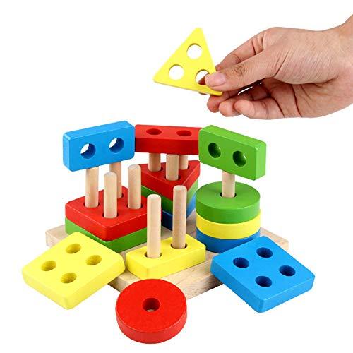 BeesClover Baby Toys Geometrisches Sortierbrett für Kinder, Lernspielzeug, Bausteine, Geschenk für Kinder