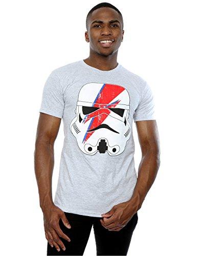 rmtrooper Glam Lightning Bolt T-Shirt Large Heather Grey ()