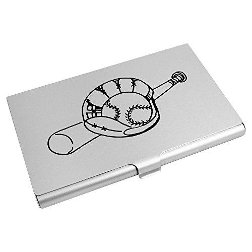 Azeeda 'Baseballschläger und Handschuh' Visitenkartenhalter / Kreditkarte Geldbörse (CH00010763)