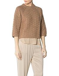 e672a6befac5 Joop! Damen Pullover Baumwollmix Sweater Meliert, Größe  36, Farbe  Braun