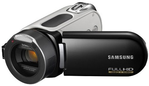 Samsung HMX-H100 HD-Camcorder (Full HD 1920x1080 50i - SD/SDHC-Card, 10-fach opt. Zoom, Xenon-Blitz, 37mm Weitwinkel, 6,9 cm (2,7 Zoll) Touchscreen ) schwarz (Samsung Memory Camcorder)