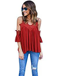 Blusa, Oyedens Womens gasa verano informal Tank Tops cosecha chaleco blusa camiseta
