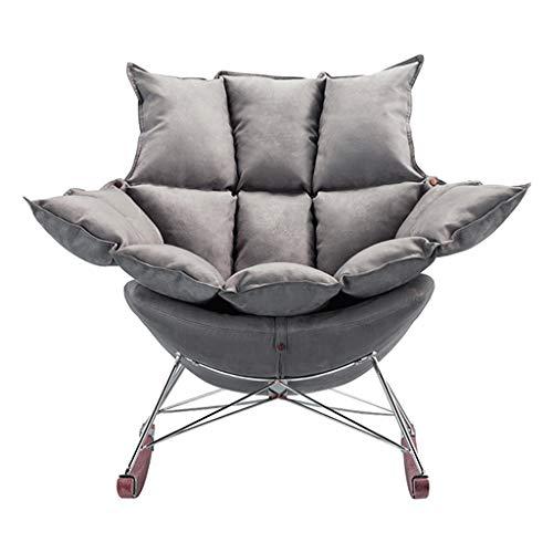 HYYTY-Y Fauler Schaukelstuhl für Haushalt, abnehmbares Kissen Winter und Sommer Sofa für Zwei Personen - Grau 619-YY
