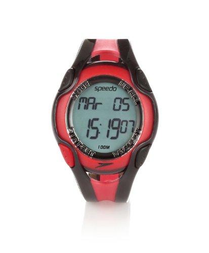 Speedo Aquacoach - Reloj resistente al agua rojo Talla:Adjustable