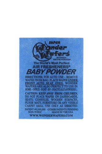 Preisvergleich Produktbild Wonder Wafers 50 Count Individually Wrapped Automobile Professional Use Air Fresheners Car and Truck Detail Baby Powder by Wonder Wafers