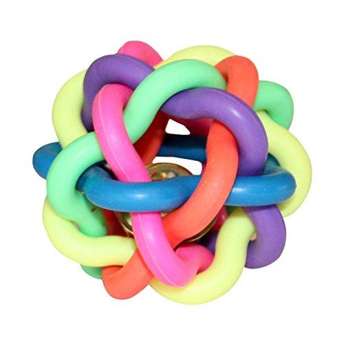 ZaPro Spielzeug Ball Hundespielzeug/Quitschend Wasserspielzeug Zahnpflege Kauspielzeug/in Groß und Klein, mit Glocke/Für Hund, Welpe und Katze/für Garten und Wasser (S)