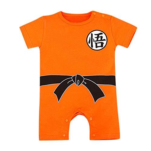 DIASTR Kleidung für Babys, Unisex Baby Strampler Mädchen Jungen Kurzarm Body Cartoon T-Shirt Overall Spielanzug Halloween Kostüm Faschingskostüm Outfit 6-24 Monate (Twin Baby Boy Und Girl Kostüm)