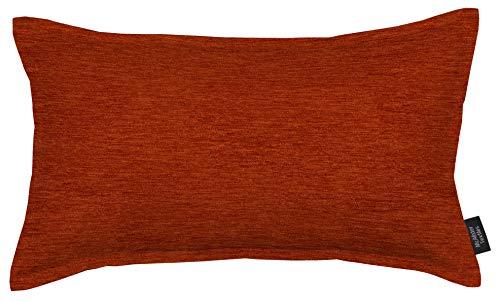 McAlister Textiles Plain Chenille | Kissenbezug für Sofakissen in Terracotta Orange | 60 x 40cm | Samt flauschig in 10 Farben erhältlich | einfarbige Uni Deko Kissenhülle für Sofa, Couch, Bett -