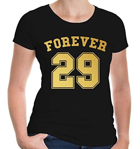 lie T-Shirt Forever 29 | Geburtstag | XXL, Schwarz ()