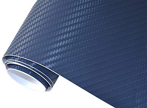 Neoxxim 4,60€/m2 Premium - Auto Folie - 3D Carbon Folie - DUNKEL BLAU 100 x 150 cm - blasenfrei mit Luftkanälen ca. 0,16mm dick