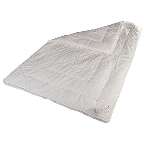 Schlafmond Der kleine Prinz Naturfaser 4-Jahreszeitendecke, Bettdecke aus Tencel Schurwolle Kapok, speziell für Allergiker (135 x 200 cm)