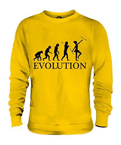 Candymix Baton Twirling Evolution des Menschen Unisex Herren Damen Sweatshirt, Größe Large, Farbe ()