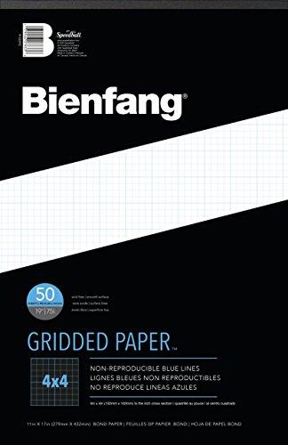 Bienfang 4X4 Kreuz Grid-Papier-Auflage 11X17 (Graph-pad-11x17)