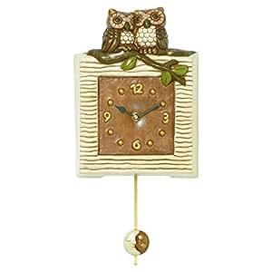 Thun orologi pendola con gufi ceramica variopinto for Orologi da cucina thun