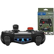 Subsonic - Kit de customización para mando playstation 4 - Funda de silicona para mando PS4 con grips para joysticks - CAMO / FPS