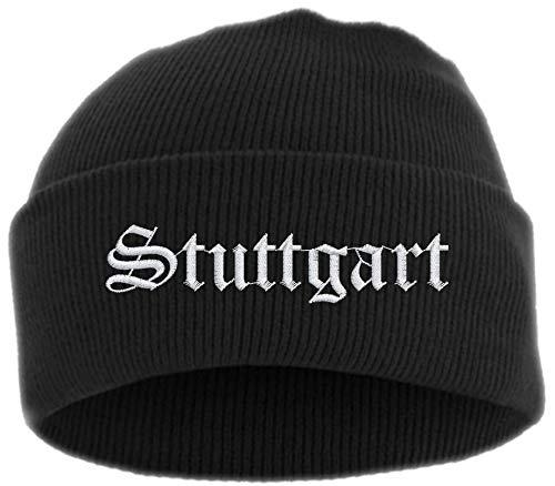 HB_Druck Stuttgart Umschlagmütze - Mütze - Bestickt - Einheitsgröße Schwarz