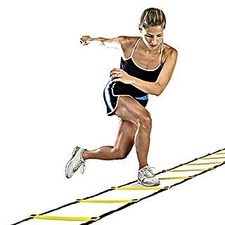 efanr Agility Leiter Speed Langlebige Training Ausrüstung Speed Fitness Equipment flach PP Teller und Gewebte Gürtel, 8 round