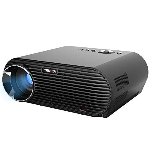 Beamer, TENKER LED Projektor 3200 Lumen Auflösung 1280x800 mit HDMI Kabel, Multimedia Portable Videobeamer Unterstützung 1080P HDMI USB VGA AV für Heimkino TV