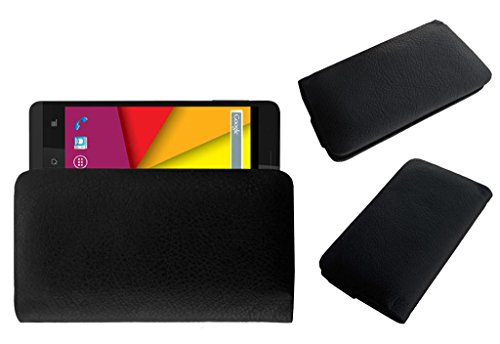 Acm Rich Leather Soft Case For Karbonn Titanium S5 Ultra Mobile Handpouch Cover Carry Black  available at amazon for Rs.179