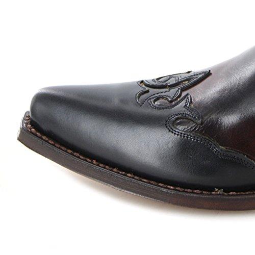 Tony Mora  65099, Bottes et bottines cowboy femme Multicolore - Burdeos Negro