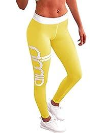 Femme Leggings de Sport Long Imprimés Pantalon de Yoga Jogging Fitness