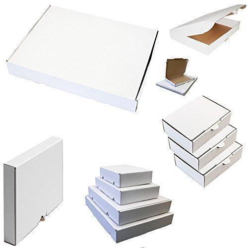25x Maxibrief Karton Post Warensendung Päckchen Versand Versandkartons Faltkarton Postkarton 350 x 250 x 50 mm Weiß