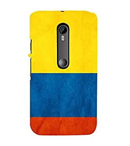 99Sublimation Broad Three colour Stripe Theme 3D Hard Polycarbonate Back Case Cover for Motorola Moto G3 :: G 3rd Gen :: G Gen 3 :: G Dual SIM 3rd Gen :: G3 Dual SIM