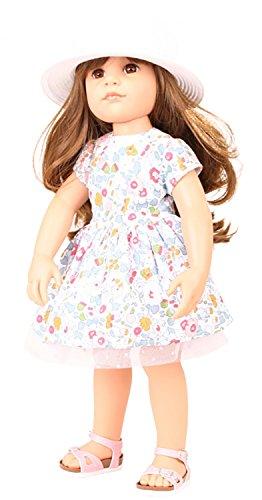 Preisvergleich Produktbild Götz 1659082 Hannah Summertime - Sommerzeit - 50 cm große Stehpuppe mit braunen langen Haaren und braunen Augen in einem 7-teiligen Set mit DVD - geeignet für Kinder ab 3 Jahren