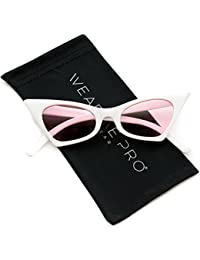 64b1cbd62b9 WearMe Pro - Retro Pointed Vintage Frame Design Tinted Women Cat Eye  Sunglasses