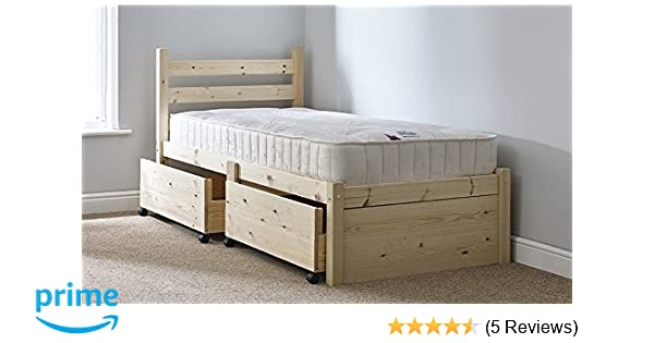 Small Single 2ft 6 Wooden Storage Pine Bed Frame Can Be Used By