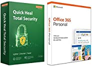 Quick Heal Total Security - 1 PC, 3 Years (DVD)&Microsoft Office 365 Personal for 1 user (Windows/Mac), 12