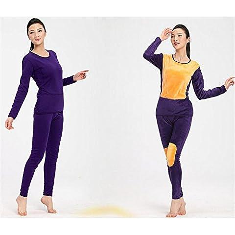 DSHUY Uomini e donne hanno invecchiato ispessita e impostata velluto autunno abbigliamento mutandoni biancheria intima termica , b , xxl