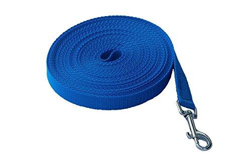 MJH Schleppleine Nylon 25mm breit dkl.blau 5m lang mit Handschlaufe