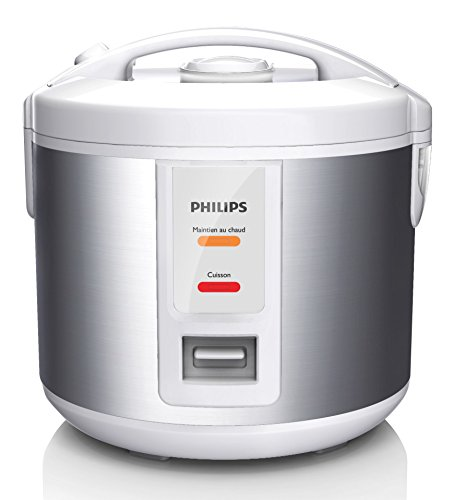 Philips-HD301108-Rice-cooker-petite-capacit-1L-500W-900g-riz-panier-vapeur-revtement-couleur-mtal-maintien-au-chaud-12h