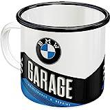 Nostalgic-Art 43216 BMW-Garage | Retro Emaille-Becher | Vintage Geschenk-Tasse | Outdoor Geschirr