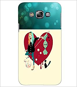 PrintDhaba Smart Girl D-1191 Back Case Cover for SAMSUNG GALAXY A7 (Multi-Coloured)