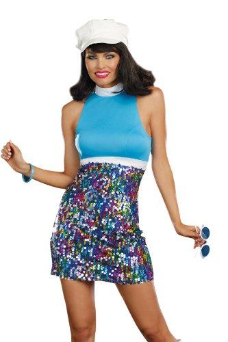 Dreamgirl Damen Kostüm Blau blau Größe (Dreamgirls Kostüme Halloween)