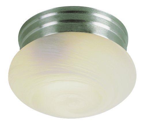 Trans Globe Lighting 3618 BN 1-Light Flush-Mount, Brushed Nickel by Trans Globe Lighting -
