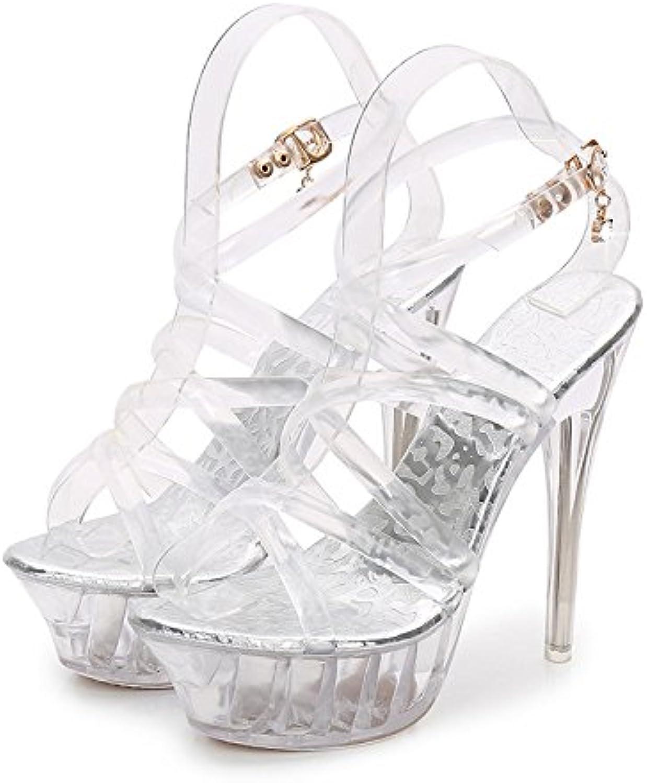 2831491175b LINYI Women s Stiletto Stiletto Stiletto Heels Model Transparent Platform Sandals  Catwalk Show Party Wedding Shoes B07F85BHVN Parent eb829e