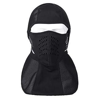 Audew Skimaske Sturmhaube Motorrad Fahrrad Snowboard Ski Maske Multifunktionale Gesichtsmaske Winter Gesichtshaube Winddicht Skimaske {mit Aktivkohlefilter}