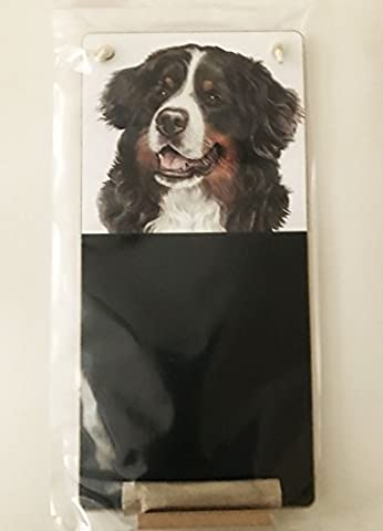 Bernese Mountain Dog Lover Gift - Fabulous Kitchen Chalkboard measures H36.5 cms x 17.5 cms packaged in plastic.