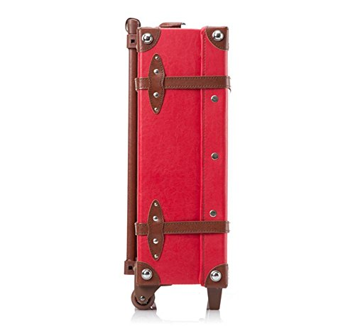 Xiuxiandianju Indossare impermeabile PU viaggio unidirezionale case moda business trolley borsa da viaggio (22 pollici) , red brown red brown