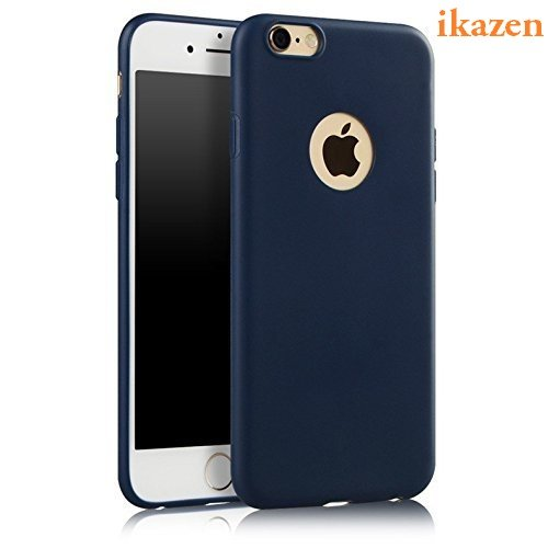 ikazen Soft Silicone TPU Matte Ultra Thin Camera Protection Case for Apple iPhone 6 Plus (Blue)