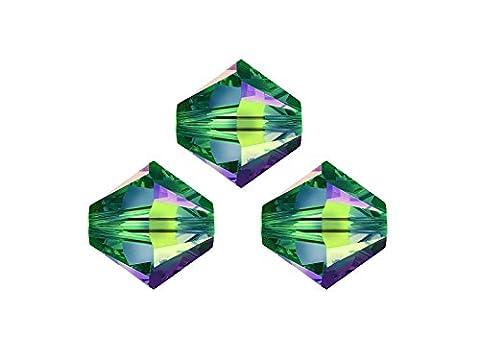 Swarovski Crystalperlen für glitzernden Schmuck aus eigener Werkstatt, 6mm, Großhandels-Packung 50 Stück, cryst.vitrail medium