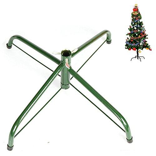 Ouvin, base in ferro da 45 cm per albero di Natale composta da 4 staffe con piedini in gomma e con vite ad aletta