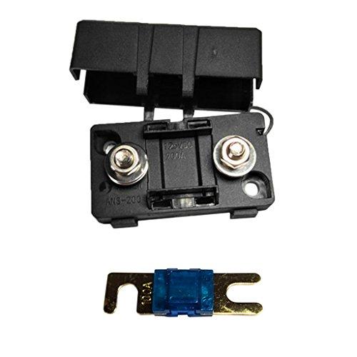 Dolity Kfz Auto Mini Ans Sicherungshalter Fuse Box Block Staubdichte Abdeckung - Ampere Auswählen - Schwarz - 100A Fuse Block-box