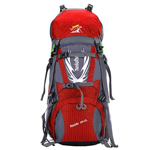 WGKUMMQN Reiserucksack Große Kapazität Nylon Wasserdichter Gürtel Regenhülle Outdoor Wandern Klettern Camping Herren Und Damen Rucksack -