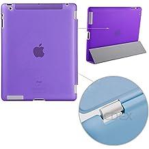 doupi Backcase Arrière Coque iPad ( 5. Generation 2017 Modell ) - convient doupi Smart Cover - Extra Fixation et Protection - Mat Semi Transparent, Violett